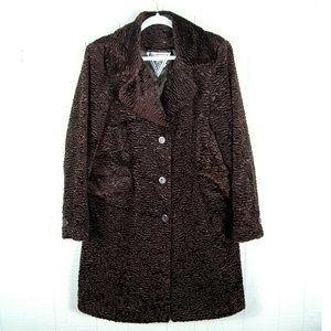 Marvin Richards Faux Fur Teddy Coat Long